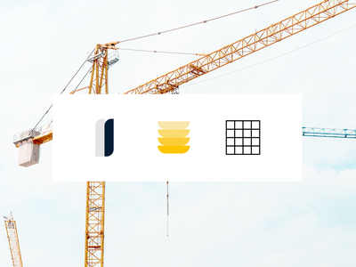 Build into and out of complexity. minimal logo construction icons user interface product design