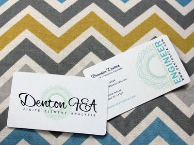 Denton FEA Business Card print business logo identity branding