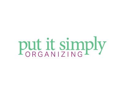 Put It Simply Organizing Logo identity branding logo