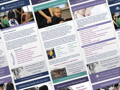 SFW Rack Cards branding information chiropractor rack cards design print
