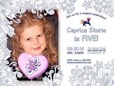 Color Me Invitation invitation birthday coloring design print