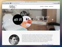 Kacik urody - web layout