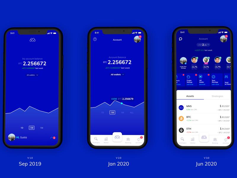 Monnos Account - Evolution Based on Feedback social app social crypto social trade crypto wallet cryptocurrency monnos