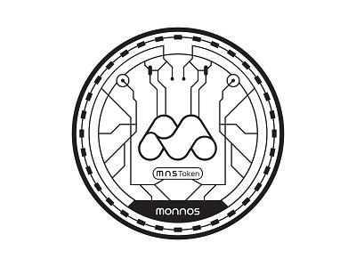 MNS Token Coin bitcoin cryptocurrency monnos design minimal crypto