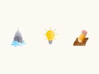 Simple coloured icons