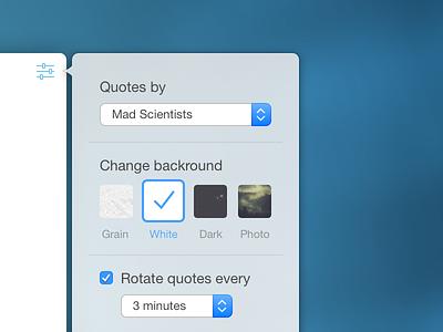 Settings dropdown menu ui interface macos preferences settings