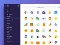 Icons8 App Concept