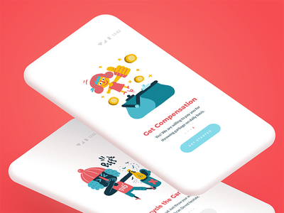 Onboarding money thumbs up digital art onboarding colour flat design app mobile ux ui interface illustrations