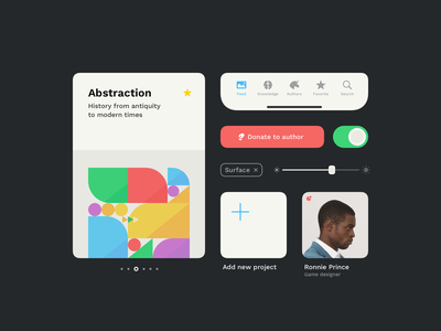 Preinstalled UI Components in Lunacy app colors design typography icons8 lunacyapp icons components ios mobile ux ui interface