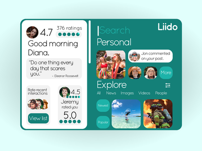 Liido Social Rating System