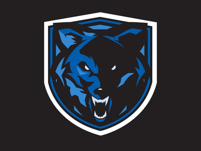 Sports Team Mark: Wolf logo vector branding illustration design
