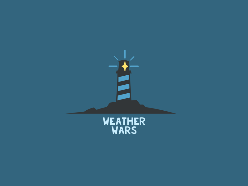 Weather Wars Logo clean minimal app vector illustration logo design branding