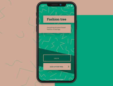 Fashion tree App Sign up (Daily UI#1)