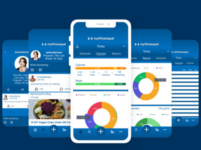 MyFitnessPal Mobile Redesign Concept