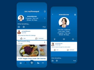 MyFitnessPal Mobile Social Concept