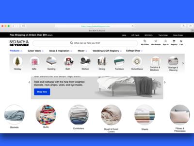 Bed Bath & Beyond Website Navigation Concept