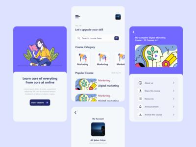 Online Course App Design ui illustration app ui design app design