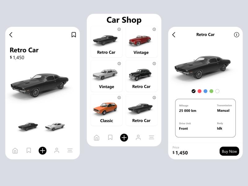 Online Car Shop car app car shop design app design shop uı app ui design