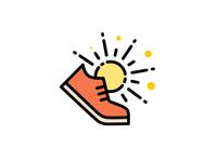 Shoe and Sun