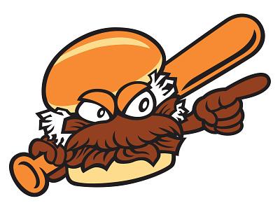 Charlotte Pitmasters Home Cap Logo barbeque branding baseball logo minor league baseball