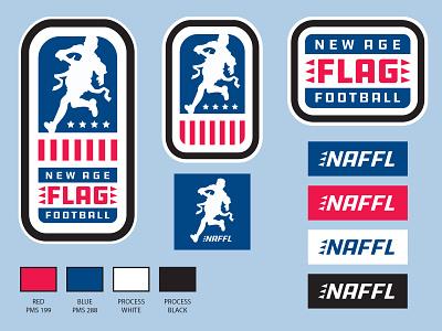 New Age Flag Football logo youth sports sports logo sports design logos brand design sports flag football