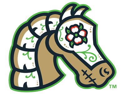 Caballeros de Charlotte - Home Cap Logo logo design minor league baseball latino illustration branding copa baseball