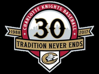 Knights 30th Season sports design minor league baseball illustration branding baseball milb