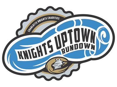 Knights Uptown Rundown 5K Logo 5k milb design minor league baseball illustration branding baseball