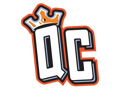 "Queen City Knights - ""QC"" Cap Logo logo sports milb design minor league baseball illustration branding baseball"