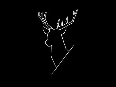 Geometric Deer minimalist minimal black deer animals animal lineart lines geometrical geometric illustration