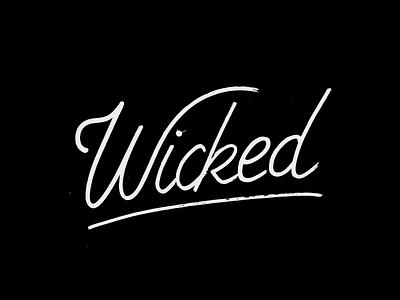 Wicked rap hip hop black script font script handmade calligraphy typography hand lettering type lettering