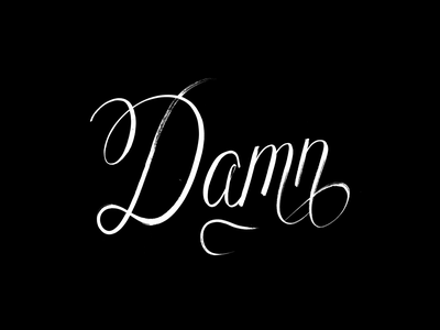 Damn rap hip hop black script font script handmade calligraphy typography hand lettering type lettering