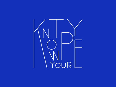 Know your type manifesto blue lines custom lettering custom type typography type lettering