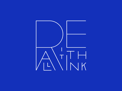 Rethink it all manifesto rethink blue lines custom lettering custom type typography type lettering