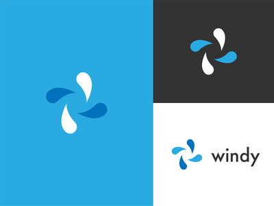 Windy // Logo Proposal design brading logotype branding logo