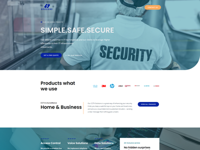 Web desig  for CCTV company web design website wordpress branding ui brand