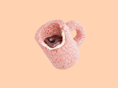 Sweet Cup render sweet cute minimal 3dillustration illustraion dessert icecream popsicle blender3d blender 3d
