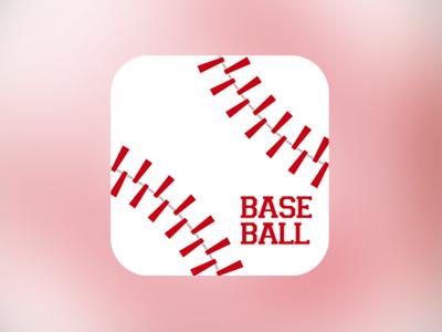 Baseball baseball game app icon ios apple iphone ipad minimal minimalist