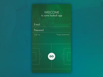 Some Football/Soccer App soccer football ux ui app iphone ios form log in