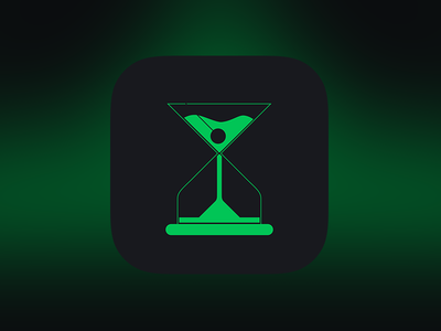 Flux - App Icon Concept dark hourglass minimalism flat iphone ios icon app