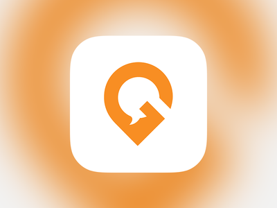 Gofugue - app icon map message minimalist chat location gofugue ios app icon