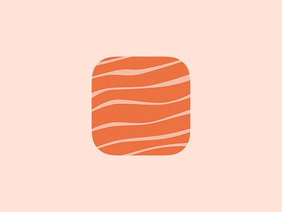 Salmon - App Icon fish sushi restaurant cooking food sea iphone ios icon app app icon salmon