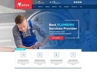 Mistox - Responsive Multi Purpose HTML5 Template water sever service repair plumber maintenance leak drain