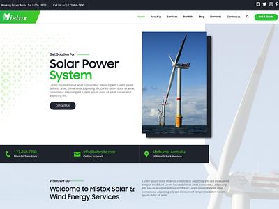 Mistox - Responsive Multi Purpose HTML5 Template energy wind energy solar service repair