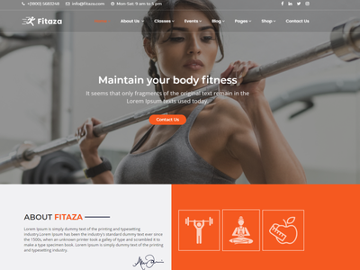 Fitaza – Fitness HTML Template yoga workout weightlifting trainer nutrition health gym fitness fit exercise classes body aerobic