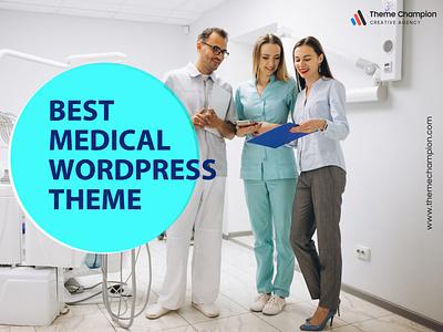 Medical Wordpress theme graphic design