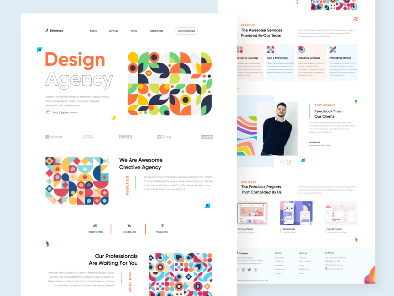 Thinkstoc - Agency Landing Page