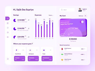 Financial Dashboard Design sajib clean minimal website web trend 2021 banking popular design top ux ui designer popular shot design admin app dashboard finance financial interface uiux ux ui