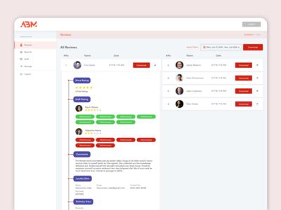 Web Admin panel Activity Stream