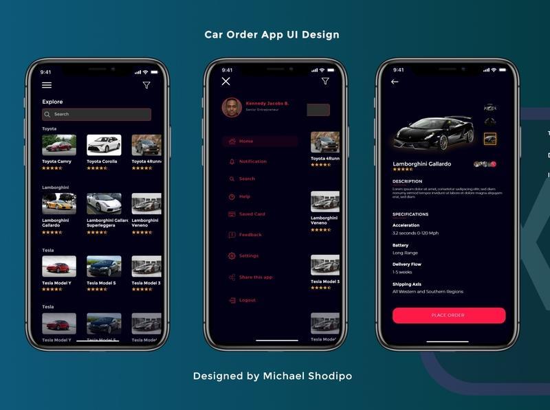 Shopping App Design Concept 🚀💯 cart card dark ui dark app dark theme dark mode user experience userinterface darkui adobexd uiux dark adobe creative design idea clean concept creative design